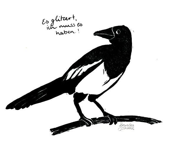 Fast alle Vögel sind schon da – Linoldrucke